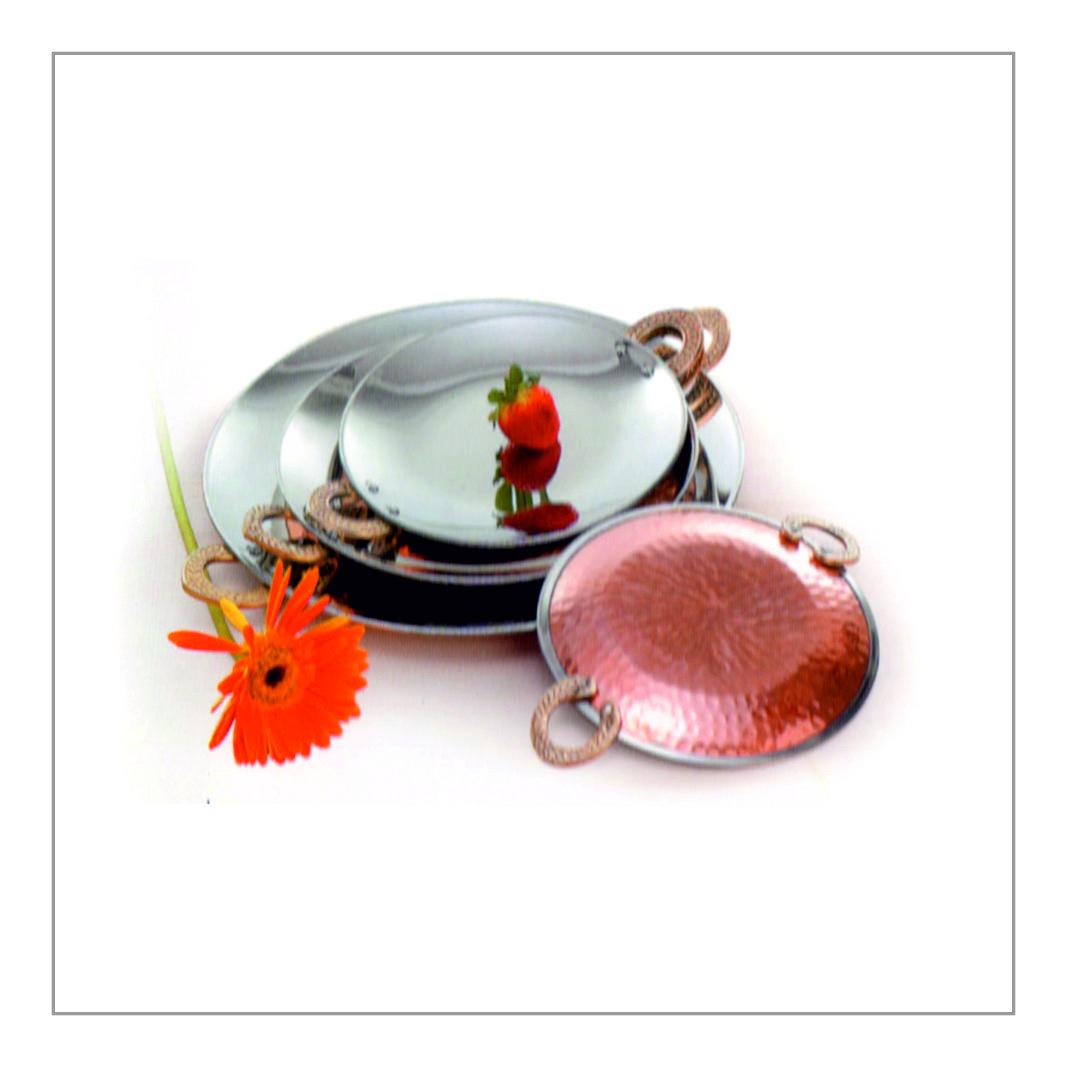 Copper Round Tawa Platter