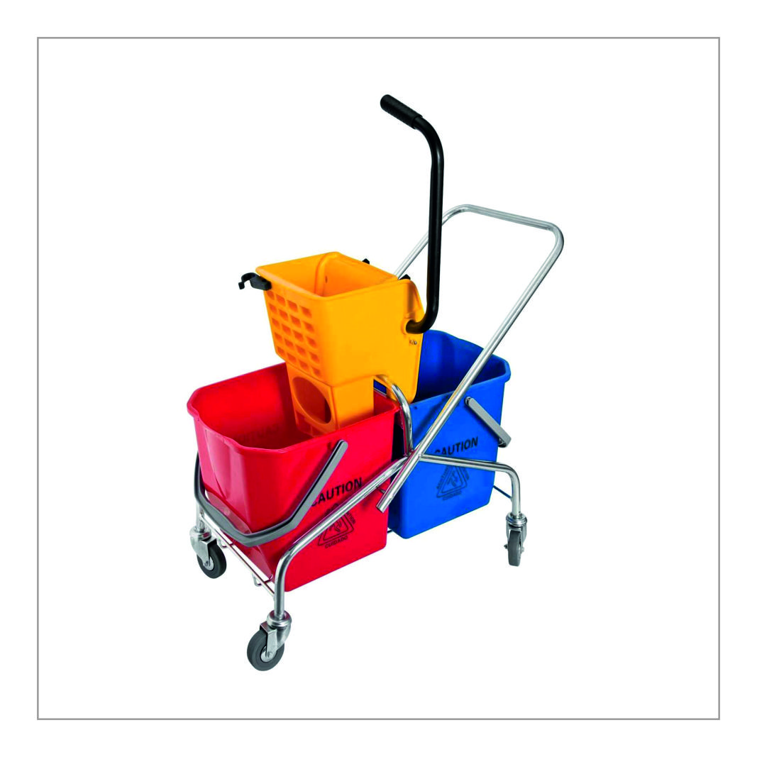 Double Mop Floor Cleaning Trolley