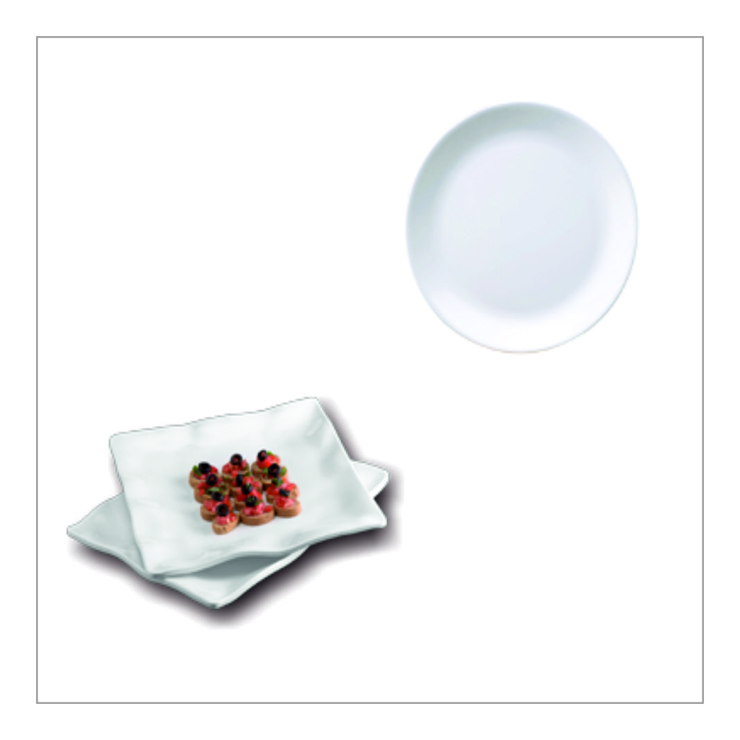 Melamine Snacks Plates