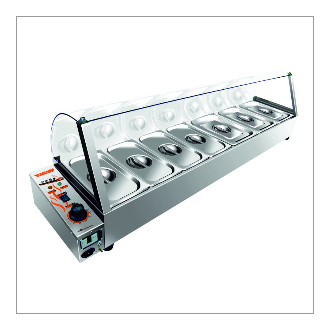 Six Container Electrical Display Bainmarie